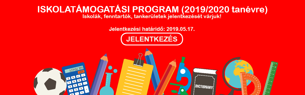 Iskolatámogatási program 2019/2020 tanévre