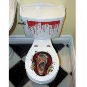 Ijesztő WC Dekoráció Halloweenre