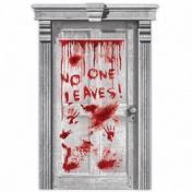No One Leaves! - Asylum Véres Ajtódekoráció Halloween-re