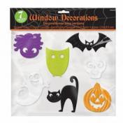 Vidám Halloween Mintázatú Ablakdekoráció - 7-12 cm, 7 db-os