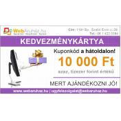 Kedvezménykártya [10.000 Ft értékű] korlátozás nélkül beváltható