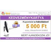 Kedvezménykártya [5.000 Ft értékű] korlátozás nélkül beváltható