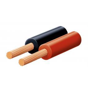 Hangszóróvezeték, piros-fekete, 2x0,35mm, 100m/tekercs [min: 100m]