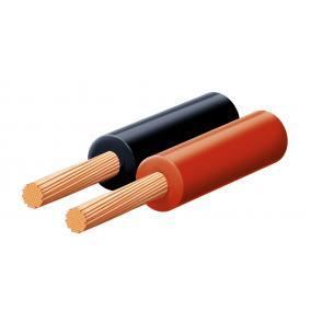 Hangszóróvezeték, piros-fekete, 2x0,5mm, 100m/tekercs [min: 100m]