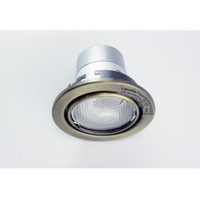 KIT-60A-3, 3db 13W GU10 230V fehér kompakt fénycső, forg. beép. (3 db-os szett) antik bronz