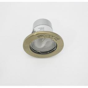 KIT-57A-3, 3db 13W GU10 230V fehér kompakt fénycső, fix, beép.szett (3 db-os szett) antik bronz