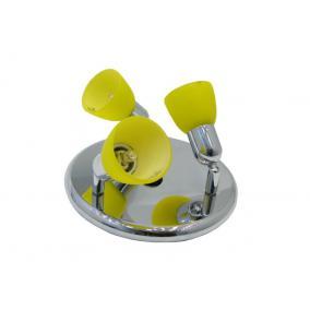CLE-230A fali spot lámpa, 3x60W, sárga búrával, króm kivitel