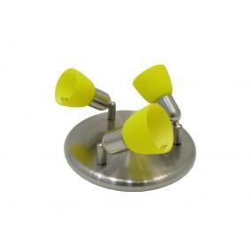 CLE-230A fali spot lámpa, 3x60W, sárga búrával, matt króm kivitel