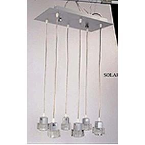 SOLAR-6PIN modern függesztett lámpa 6xGU10 50W 230V