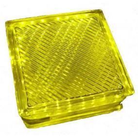 LED-G10-1x2W,  sárga kristálytégla lámpa