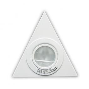 KIT-15-3, 3db JC-20W G4 12V halogén, fix, háromszögű, szekrény alatti (3 db-os), fehér