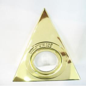 KIT-15-3, 3db JC-20W G4 12V halogén, fix, háromszögű, szekrény alatti (3 db-os), arany