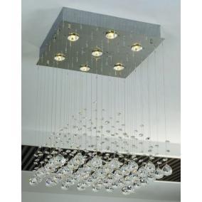 CANNES,MD51104-7B, 7XGU10 50W 230V, kristály lámpa