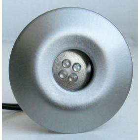 LED-GR02-4X1,0W, 4db-os szett, trafóval, szín: matt króm, LED: kék, IP44, süllyesztett