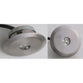 LED-02-4X1,0W, 4db 1,0W LED 12V, beépíthető (4 db-os LED szett), LED: kék, mat króm