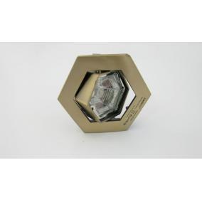 KIT-82-3, HEX (hatszögű), 3db 50W GU10 forgatható, beép. szett (3 db-os halogén) antik bronz