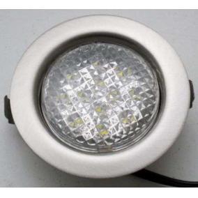 LED-06D-3X1,0W, 3db 1,0W LED 12V, beépíthető (3 db-os LED szett), LED: fehér, króm