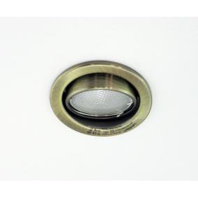 KIT-60-3, 3db 7W GU10 230V kompakt fénycső, forgatható, beép.szett (3 db-os szett) antik bronz
