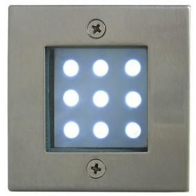 LED-GR92-3, 3x1,0W, 3db-os szett, trafóval, szín: matt króm, IP68, süllyesztett, LED: kék