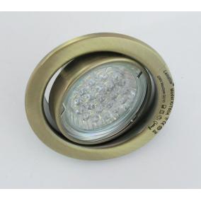 KIT-60A-3, 3db 1,5W GU10 230V fehér LED izzó, forg. beépíthető (3 db-os LED szett), antik bronz