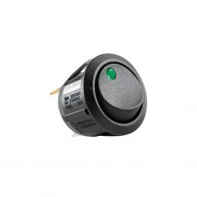Világítós billenőkapcsoló, 250V, 1ák, zöld [min: 5db]