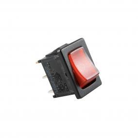 Világítós billenőkapcsoló, 250V, 1ák, piros [min: 5db]