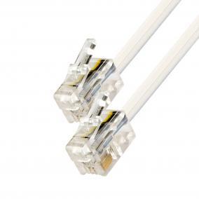 Telefoncsatlakozó kábel, 6P4C, dugó-dugó, 10m