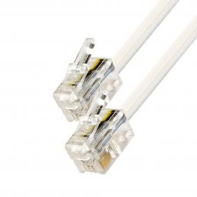 Telefoncsatlakozó kábel, 6P4C, dugó-dugó, 5m