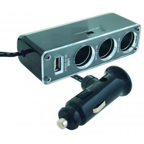 Szivargyújtó elosztó, hármas + USB aljzat