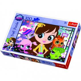 Littlest Pet Shop puzzle 100db-os