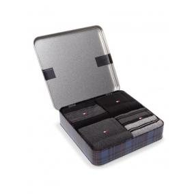 Tommyhilfiger Th Men Sock 4p Stripe Tin Giftbox [méret: 39-42]