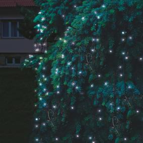 LED-es sorolható fényháló, 3x3m, IP44, hidegfehér