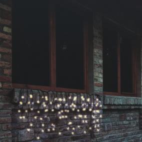 LED-es sorolható fényfüggöny, 4m, IP44 melegfehér