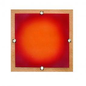 MELIA 23 cm 1xG9 40W 230V  Fali / mennyezeti lámpa - fa/színes üveg