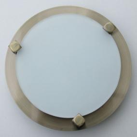 MELISSA D16 modern fali / mennyezeti lámpa 1xG9 40W 230V (antik bronz / fehér üveg)