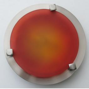 MELISSA D16 modern fali / mennyezeti lámpa 1xG9 40W 230V (nikkel / piros üveg)