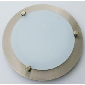 MELISSA D23 modern fali / mennyezeti lámpa 1xG9 40W 230V (antik bronz / fehér üveg)
