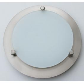 MELISSA D23 modern fali / mennyezeti lámpa 1xG9 40W 230V (nikkel / fehér üveg)