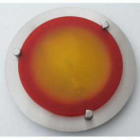 MELISSA D23 modern fali / mennyezeti lámpa 1xG9 40W 230V (nikkel / piros üveg)
