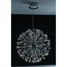MONACO, MD2206/40, 40xG4 12V 10W halogén, króm, kristály lámpa