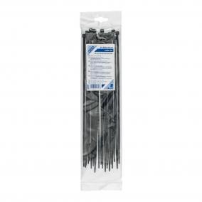 Kábelkötegelő, 300 x 4,8 mm, fekete [25db]