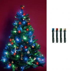 LED-es beltéri fényfüzér, színes, 100 LED beltéri, 8m