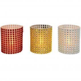 LED-es gyöngydekorációs mécses, 1 db, 3V