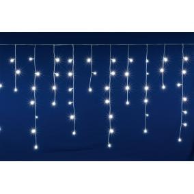 LED-es sorolható jégcsap fényfüggöny, 5 m, IP44, 200LED, hidegfehér