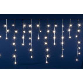 LED-es sorolható jégcsap fényfüggöny, 5 m, IP44, 200LED, melegfehér