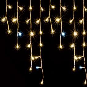 LED-es jégcsap fényfüggöny, sziporkázó, 5m, IP44, 230V