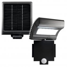 LED-es fényvető, napelemes, mozgásérzékelővel, 6W, IP44