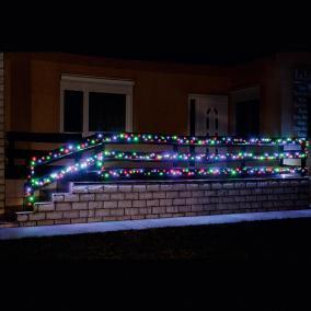 LED-es fényfüzér, 100 LED, színes, állófényű, kültéri, 7m