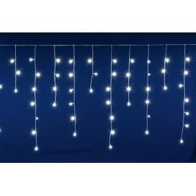 LED-es, sorolható fényfüggöny, jégcsap, 400 LED, 10m, hidegfehér