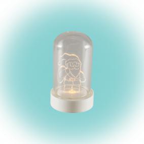 LED-es asztali dísz, Mikulás, 9cm